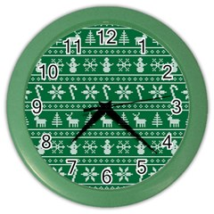Ugly Christmas Color Wall Clocks