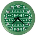 Ugly Christmas Color Wall Clocks Front