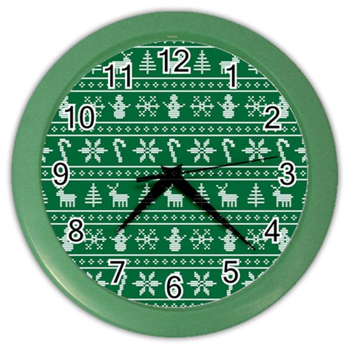 Ugly Christmas Color Wall Clocks