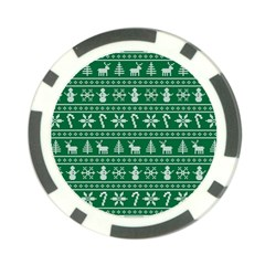 Ugly Christmas Poker Chip Card Guards