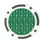 Ugly Christmas Poker Chip Card Guards Back