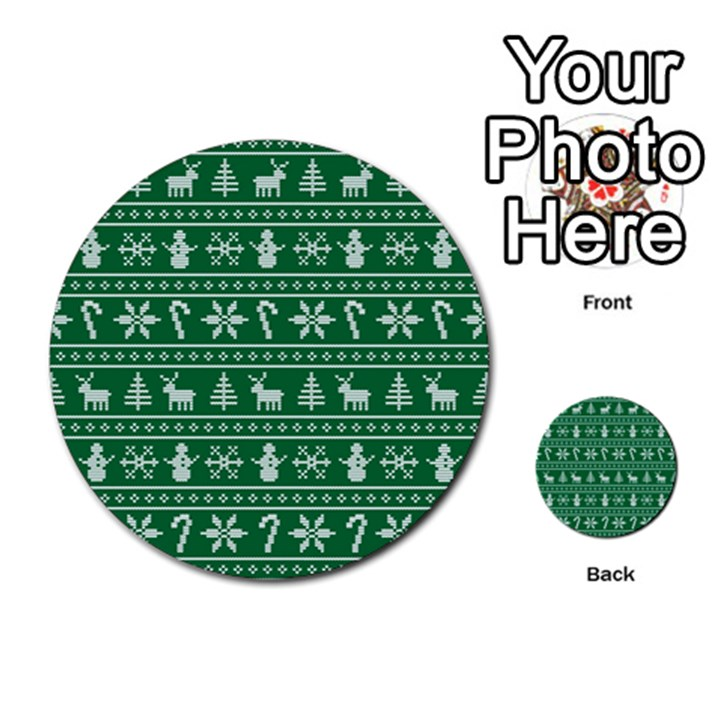 Ugly Christmas Multi-purpose Cards (Round)