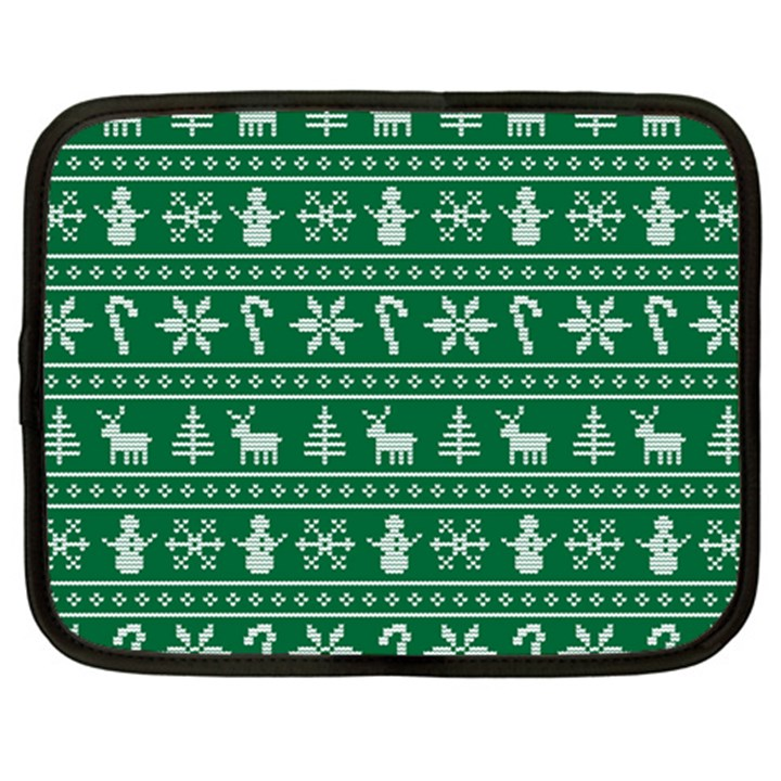 Ugly Christmas Netbook Case (Large)