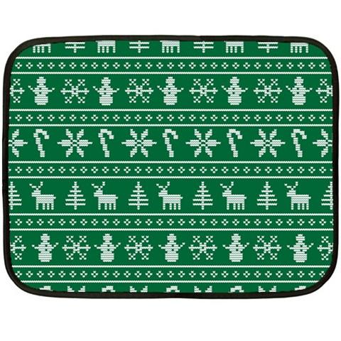 Ugly Christmas Double Sided Fleece Blanket (Mini)
