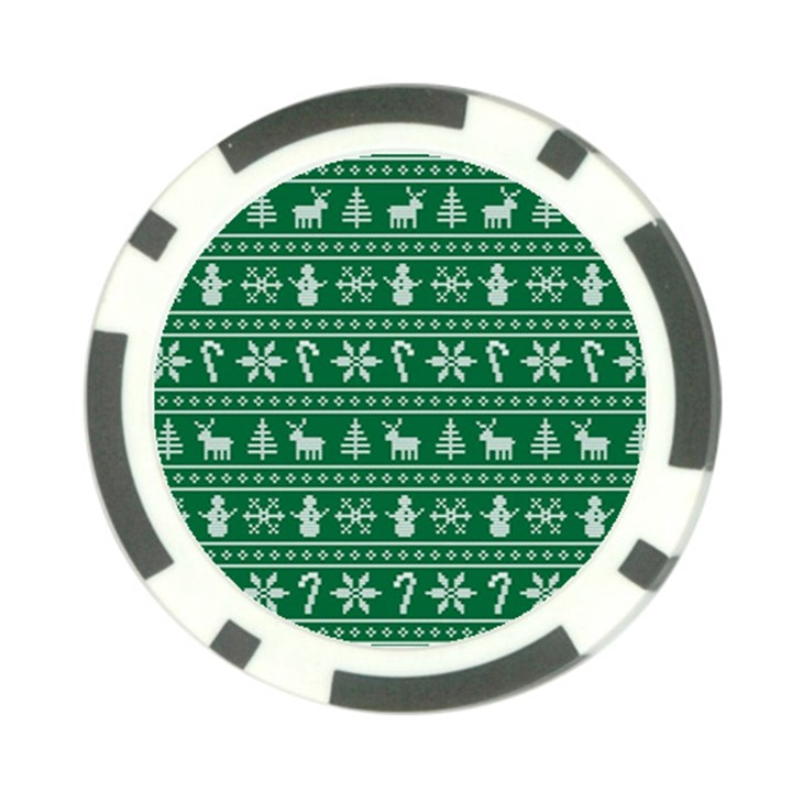 Ugly Christmas Poker Chip Card Guards (10 pack)