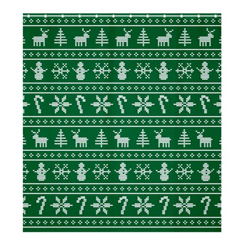 Ugly Christmas Shower Curtain 66  x 72  (Large)