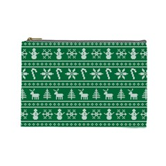 Ugly Christmas Cosmetic Bag (Large)