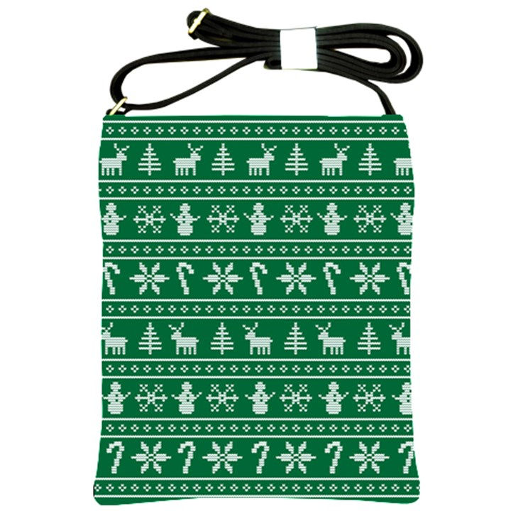 Ugly Christmas Shoulder Sling Bags
