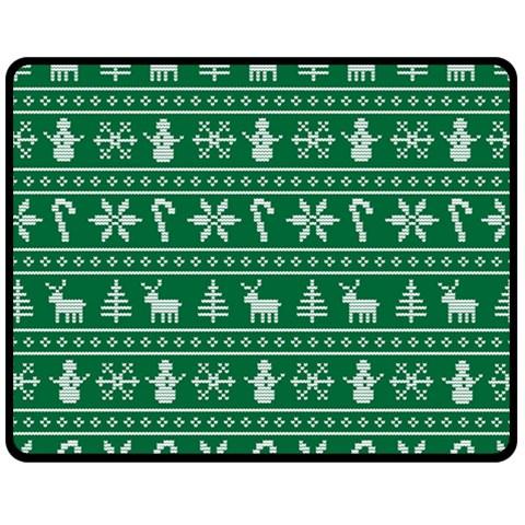 Ugly Christmas Fleece Blanket (Medium)