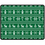 Ugly Christmas Fleece Blanket (Medium)  60 x50 Blanket Front