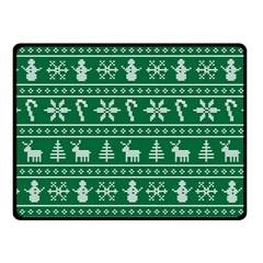 Ugly Christmas Fleece Blanket (small)