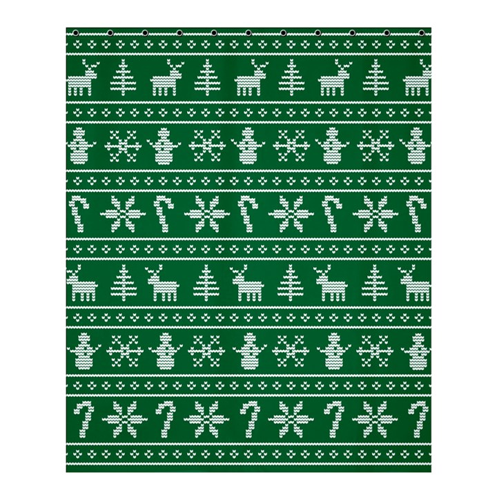 Ugly Christmas Shower Curtain 60  x 72  (Medium)