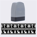 Ugly Christmas Name Stamps 1.4 x0.5  Stamp
