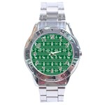 Ugly Christmas Stainless Steel Analogue Watch Front