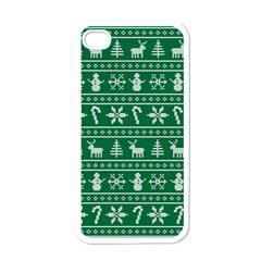 Ugly Christmas Apple iPhone 4 Case (White)