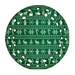 Ugly Christmas Round Filigree Ornament (2Side) Front
