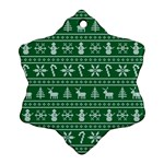 Ugly Christmas Snowflake Ornament (2-Side) Front