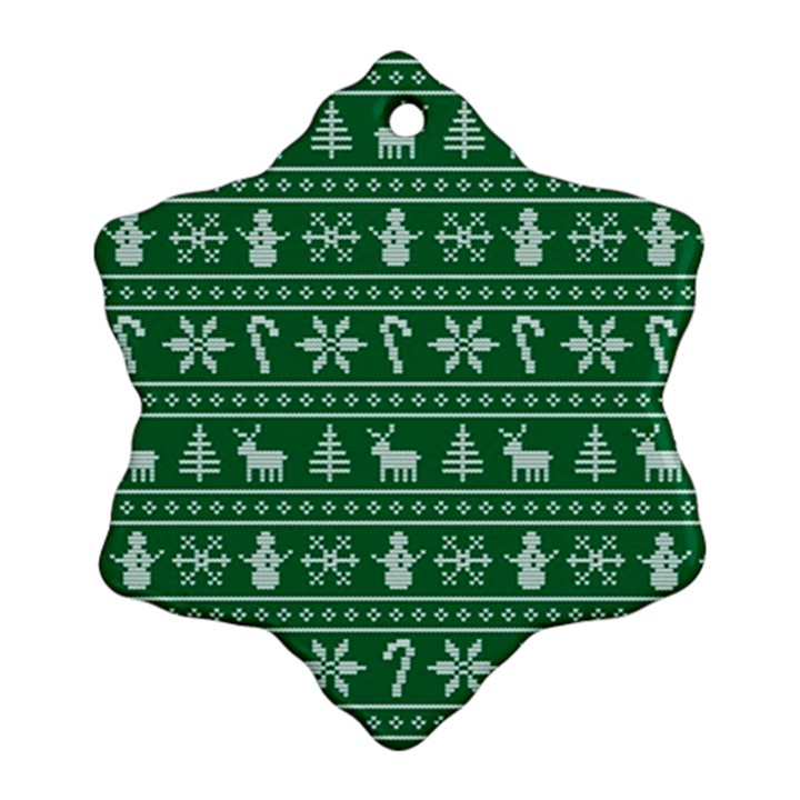 Ugly Christmas Snowflake Ornament (2-Side)