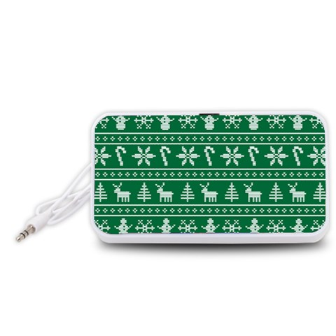 Ugly Christmas Portable Speaker (White)