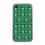 Ugly Christmas Apple iPhone 4 Case (Clear) Front