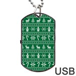 Ugly Christmas Dog Tag USB Flash (Two Sides)  Front