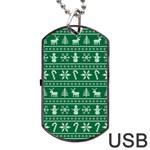 Ugly Christmas Dog Tag USB Flash (Two Sides)  Back