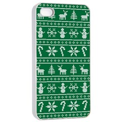 Ugly Christmas Apple iPhone 4/4s Seamless Case (White)
