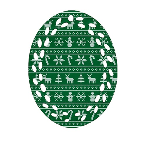 Ugly Christmas Oval Filigree Ornament (2-Side)