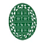 Ugly Christmas Oval Filigree Ornament (2-Side)  Back