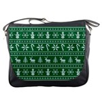 Ugly Christmas Messenger Bags Front