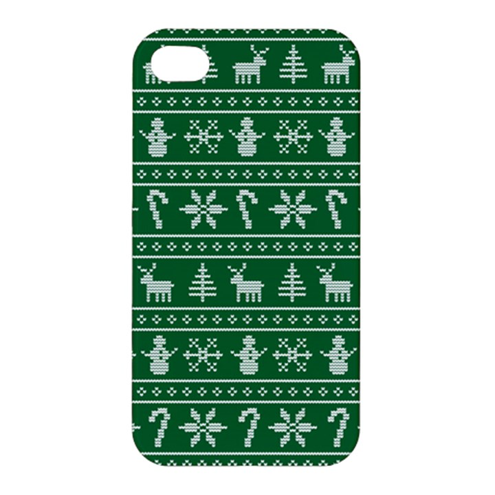 Ugly Christmas Apple iPhone 4/4S Premium Hardshell Case
