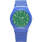 Ugly Christmas Round Plastic Sport Watch (S) Front