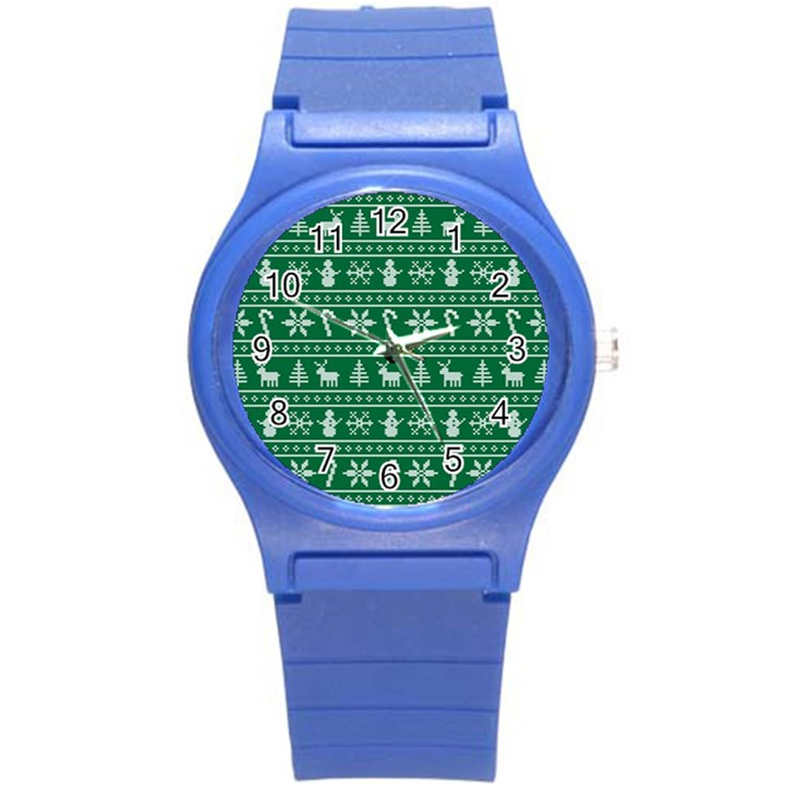 Ugly Christmas Round Plastic Sport Watch (S)
