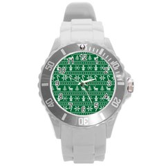 Ugly Christmas Round Plastic Sport Watch (L)
