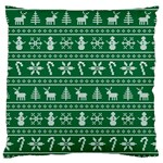 Ugly Christmas Large Cushion Case (Two Sides) Front