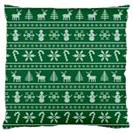 Ugly Christmas Large Cushion Case (Two Sides) Back