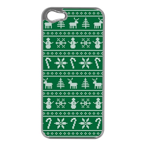 Ugly Christmas Apple iPhone 5 Case (Silver)