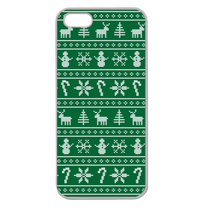 Ugly Christmas Apple Seamless iPhone 5 Case (Clear)