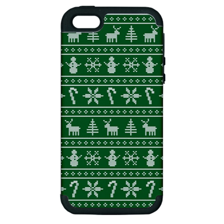 Ugly Christmas Apple iPhone 5 Hardshell Case (PC+Silicone)