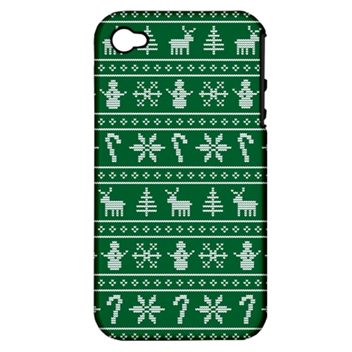 Ugly Christmas Apple iPhone 4/4S Hardshell Case (PC+Silicone)