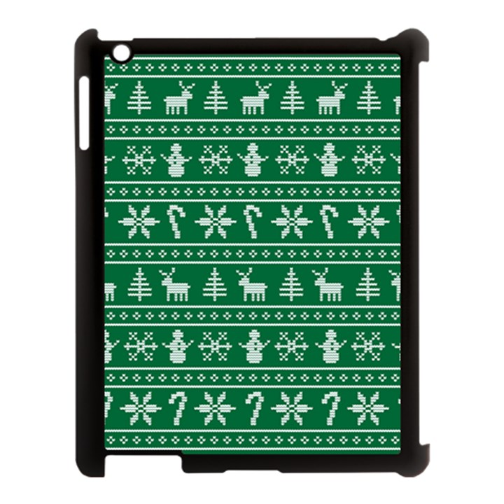 Ugly Christmas Apple iPad 3/4 Case (Black)