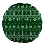 Ugly Christmas Large 18  Premium Round Cushions Back