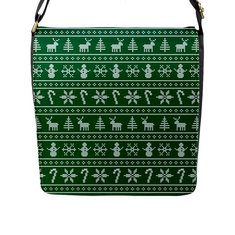 Ugly Christmas Flap Messenger Bag (L)