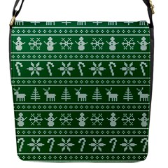 Ugly Christmas Flap Messenger Bag (S)