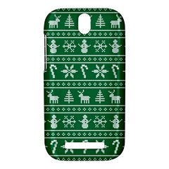 Ugly Christmas HTC One SV Hardshell Case