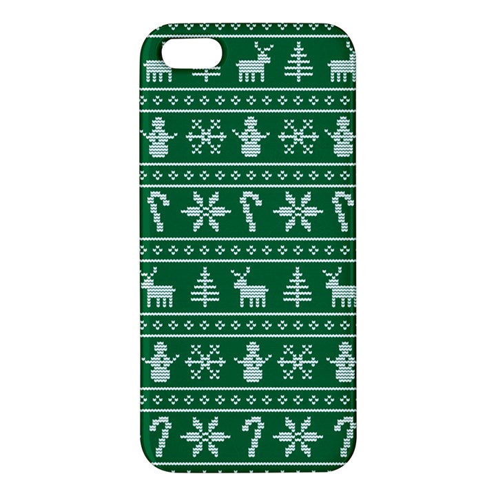Ugly Christmas iPhone 5S/ SE Premium Hardshell Case
