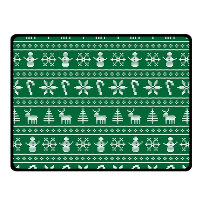 Ugly Christmas Double Sided Fleece Blanket (Small)