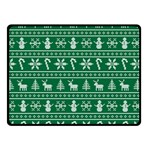 Ugly Christmas Double Sided Fleece Blanket (Small)  50 x40 Blanket Back