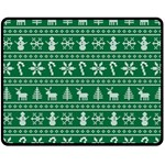 Ugly Christmas Double Sided Fleece Blanket (Medium)  60 x50 Blanket Front