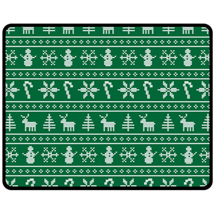 Ugly Christmas Double Sided Fleece Blanket (Medium)